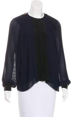 Issa Pleated Chiffon Blouse