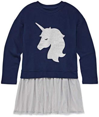 Arizona Long Sleeve Sweater Dress - Big Kid Girls