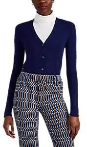 Prada Women's Fine-Gauge Knit Cashmere-Silk Cardigan - Blue