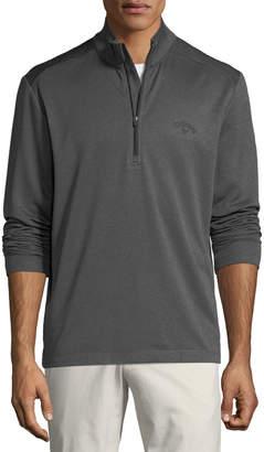 Callaway Men's Mock-Neck Waffle-Knit Pullover Jacket