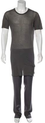 Rick Owens Short Sleeve Knee-Length Dress