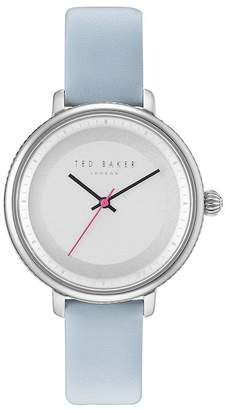 Ted Baker Isla Round Leather Strap Watch, 36mm