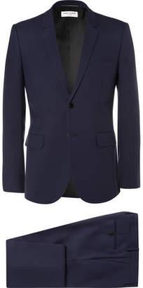 Saint Laurent Blue Slim-Fit Virgin Wool-Gabardine Suit