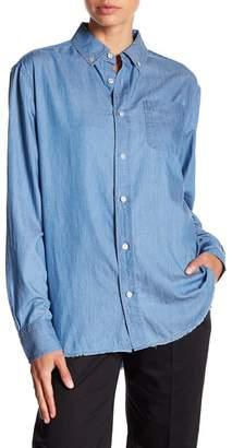 Frame Raw Edge Chambray Shirt