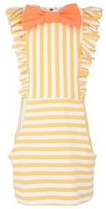 Bang Bang Copenhagen Stripe Jersey Ruffle Dress