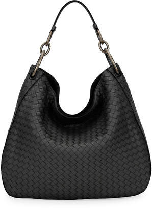 Bottega Veneta Large Loop Intrecciato Leather Shoulder Hobo Bag