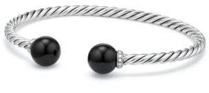 David Yurman Solari Bracelet With Diamonds And Black Onyx