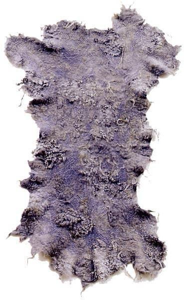Maharam - 'drenth heath' sheepskin throw by claudy jongstra