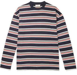 MAISON KITSUNÉ Oversized Striped Cotton-Jersey T-Shirt