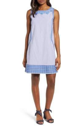 Vineyard Vines Embroidered Striped Shift Dress