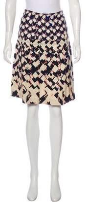 Tory Burch Silk Printed Skirt