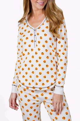 PJ Salvage Emoji Pajama Top