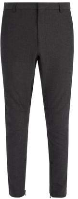 Lanvin Slim Leg Wool Blend Ankle Zip Trousers - Mens - Grey