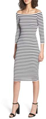 Bailey 44 Galley Down Off the Shoulder Dress