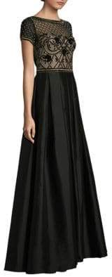 Aidan Mattox Embellished Bodice A-Line Gown