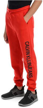 Calvin Klein Jeans Big Boys Institution Logo Fleece Joggers