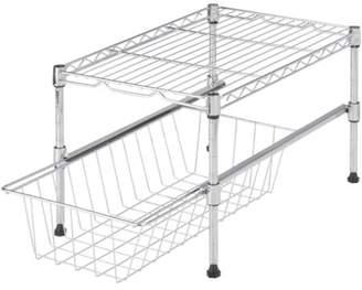 Honey-Can-Do Shelf with Adjustable Under Cabinet Organizer, Chrome