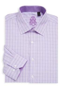 English Laundry Printed Long-Sleeve Cotton Dress Shirt