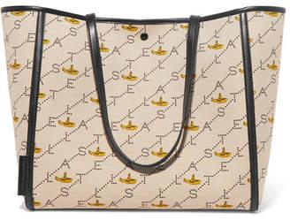 Stella McCartney Faux Leather-trimmed Printed Canvas Tote - Ecru