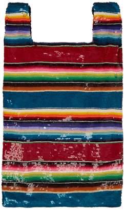 Ashish Striped sequinned bag
