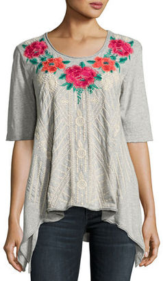 JWLA For Johnny Was Selena Trapeze Knit Tee, Plus Size $160 thestylecure.com