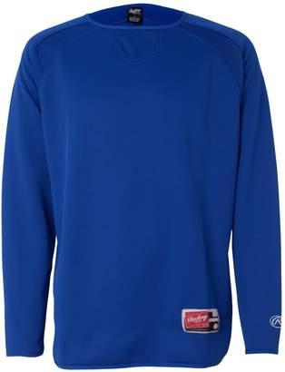 Rawlings Sports Accessories Long Sleeve Flatback Mesh Fleece Pullover - 9705