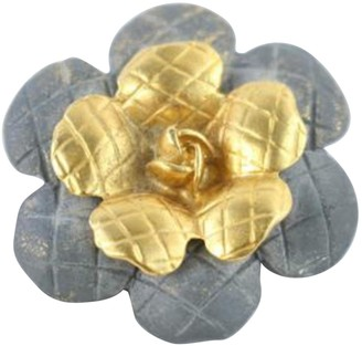 Chanel Vintage Gold Leather Pins & brooches