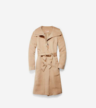 Cole Haan Suri Alpaca Wrap Coat