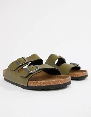 0a41ef49905 Birkenstock faux leather Arizona birko-flor sandals in green