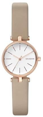 Skagen Signatur Leather Strap Watch, 26mm