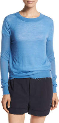 Vince Raw-Edge Cashmere Sweater $245 thestylecure.com