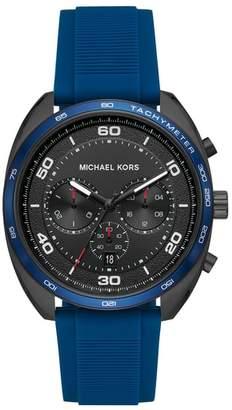 Michael Kors Dane Silicone Strap Watch, 43mm
