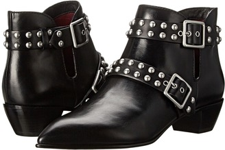 Marc by Marc Jacobs Carroll 2 Strap Stud Ankle Boot $448 thestylecure.com