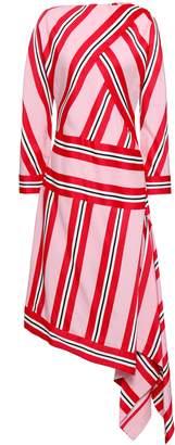 Cédric Charlier Wrap-effect Jacquard Dress
