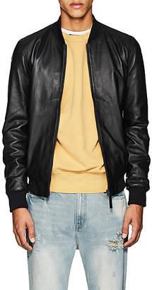 Barneys New York Lot 78 x Men's Leather Bomber Jacket - Black