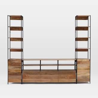 west elm Industrial Modular Large Media Set With Open + Closed Storage