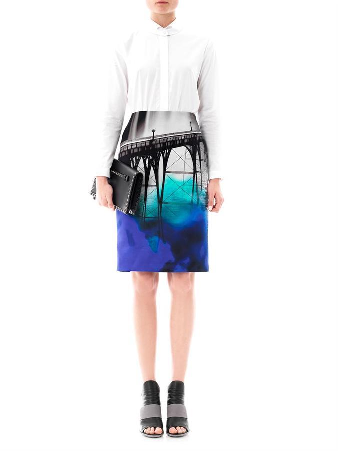 Mary Katrantzou San Francisco-print skirt