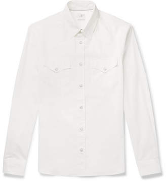 Brunello Cucinelli Cotton Western Shirt - Men - Cream