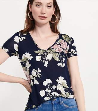 Dynamite T-Shirt With Back Detail NAVY FLORAL