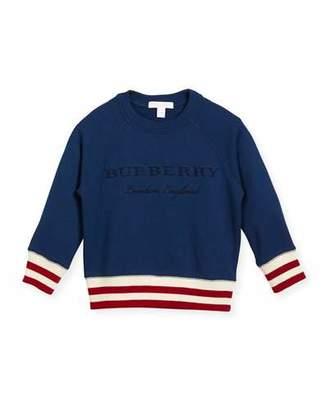 Burberry Stanley Logo Sweatshirt, Blue, Size 4-14