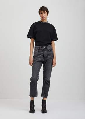 Acne Studios Log Straight Jeans 30 Black