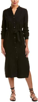 Three Dots Linen Maxi Shirtdress