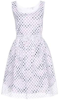 Carven Print and lace overlay dress