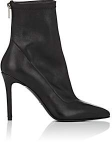 Barneys New York Women's Stretch Leather Ankle Boots - Black