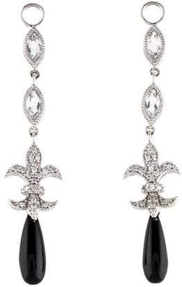 Jude Frances 18K Onyx, Diamond & Topaz Earring Jackets