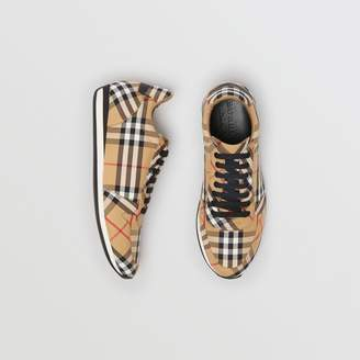 Burberry Vintage Check Cotton Trainers