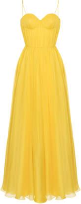 Rasario Empire-Waist Silk Gathered Gown