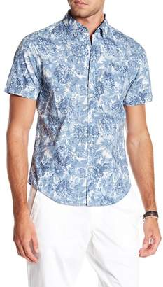 Original Penguin Short Sleeve Slim Fit Floral Printed Top
