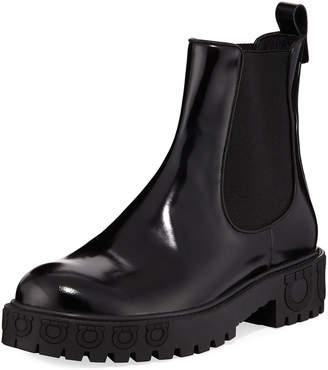 Salvatore Ferragamo Varsi Patent Platform Boots