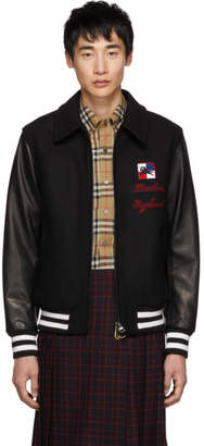 Burberry Black Chequer Stockbridge Bomber Jacket
